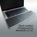 BLACK LEATHER Wrist Guard for Unibody MacBook/Pro